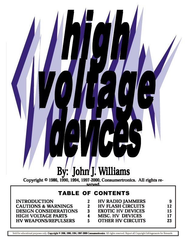 Abq techzonics booksmanualsebookssoftware sales high voltage devices high voltage circuitsdesigns fandeluxe Gallery