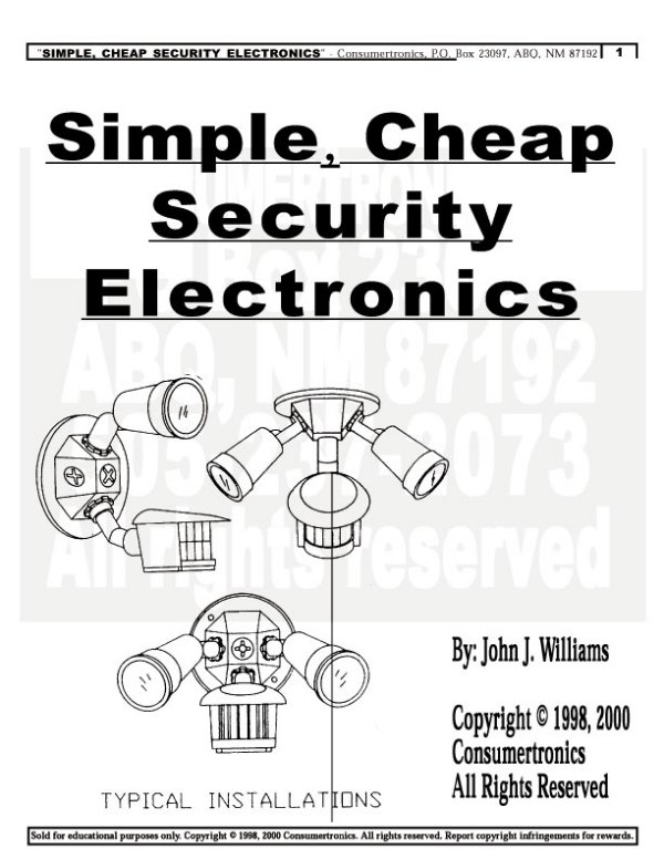 Abq techzonics booksmanualsebookssoftware sales simple cheap security electronics simple modifications of common motion detectors fandeluxe Image collections